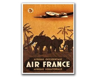 African Wall Decor Travel Poster Africa Safari Art Retro Print (H207)