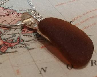 Maine Sea Glass Pendant Necklace