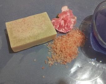 Glycerine clay and Himalayan Salt soap  ΣΑΠΟΥΝΙ  Melt & Pour με αργιλο και αλατα ιμαλαιων