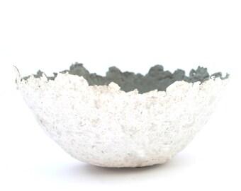 Pappmache, Papiermache bowl, grey, Jewellery Scarves,  Recycling-Paper, Papier und Pappmaché, gift for her, Paper Mache Bowl