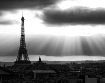 Paris black and white photography, Eiffel Tower, Paris photography, Paris view, black and white photo, Paris decor, fine art print