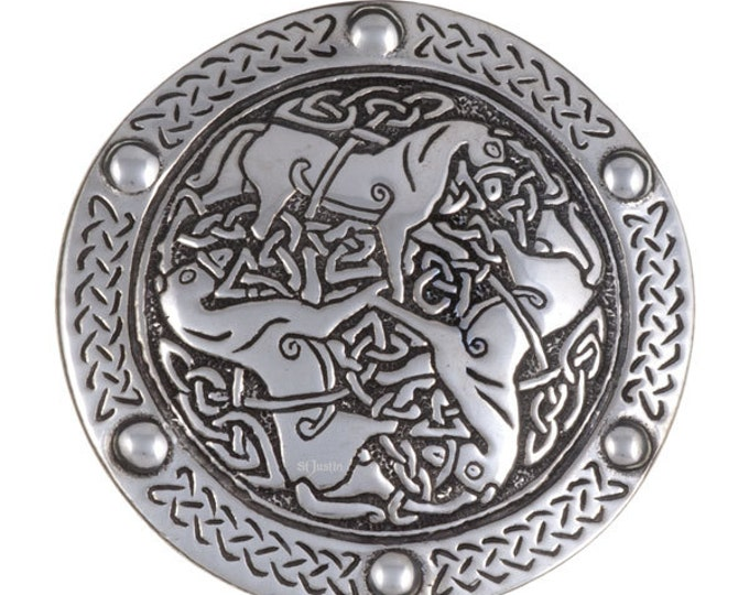 Inverurie horses belt buckle 40mm -Hand Made and Design in UK
