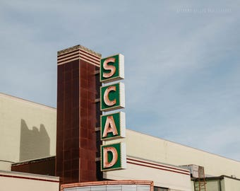 Savannah Georgia Photography SCAD Theatre Architecture Photography Pastel Art Savannah Art Sign Photography Landscape Photography