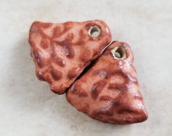 1 pair small ceramic earring charms or drops - earring charms - earring drops - ceramic earring charms - ceramic earring drops {792]