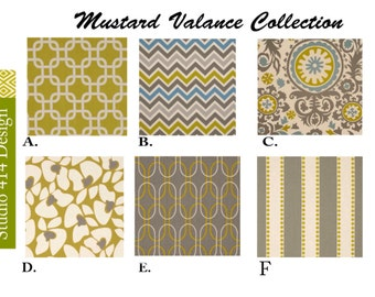 Mustard valance.Valance. Mustard Chevron  Valance.Mustard Window Treatment.Kitchen Window Valance.Valance Window Treatment