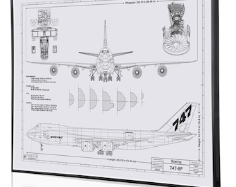 Boeing 747-8 Laser Engraved Wall Art Poster. Engraved on Metal, Acrylic or Wood. Aviation Art, Boeing Sign, Best airplane gift