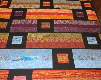 Easy-care fleece-backed quilt