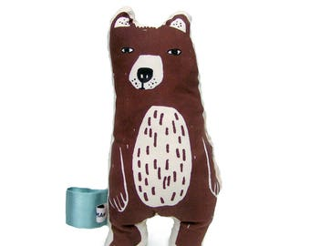 Stuffed Animal Brown Bear , Toddler Toy, Stuffed Animals, Baby Gift, Woodland Animals, Birthday Gift, Zoo Animals, Baby Shower Gift