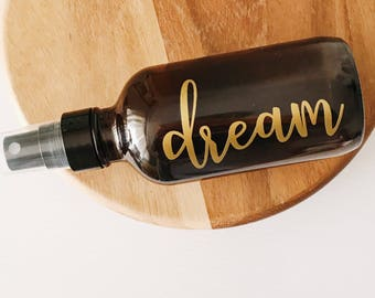 4 oz Spray Bottle with Label | Glass Spray Bottle | Amber