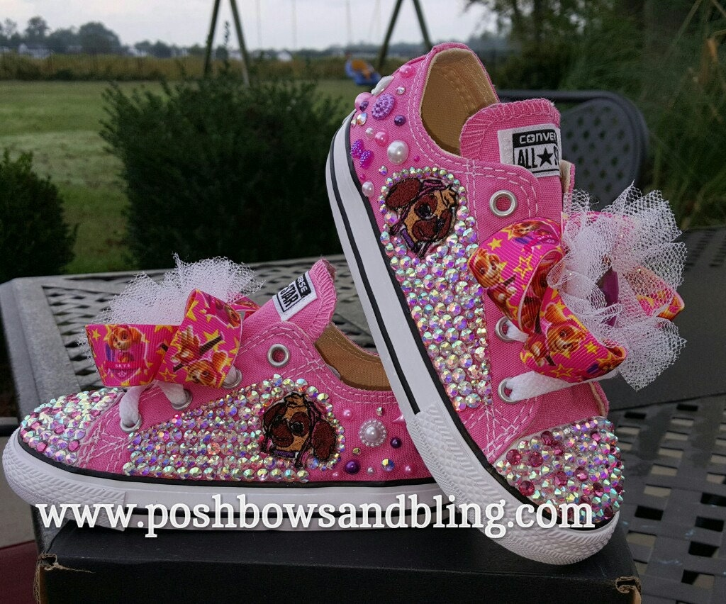 Custom Paw Patrol Bling Converse Sneakers Girls Bling Shoes