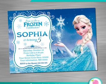 Frozen Birthday Invitation Printable Frozen Invitation
