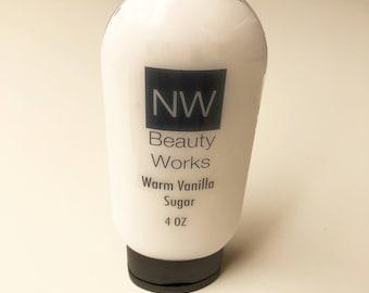 Warm Vanilla Sugar Moisturizing Lotion in Flip Top Bottle   4 oz   For ALL Skin Types!