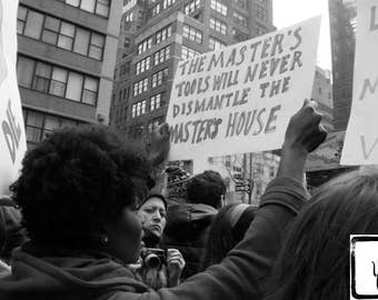 B&W #Photograph, #whyImarch, #feminist, #LGBTQ, #womensmarch, photo print, wall art, home decor, resist, feminism, The Master's Tools
