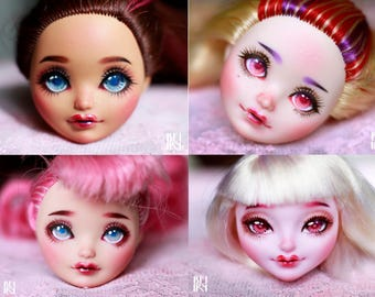 OOAK Custom Commissions Repaint  Faceup Monster high and Ever after high