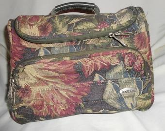 Vintage Travel Gear Tapestry Train Case