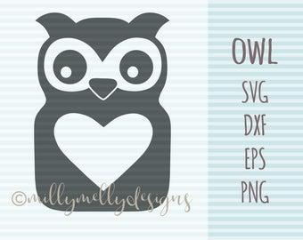 Owl SVG cut file, digital download