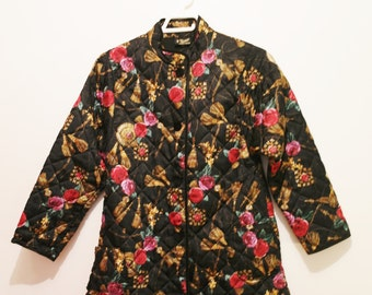 Flower's 80's quilted Jacket