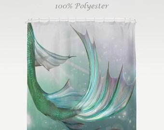 Mermaid Decor, Mermaid Bathroom, Nautical Decor, Beach Decor, Mermaid  Shower Curtain, Bath Towels, Hand Towels, Beach Towels, Bath Mat
