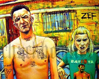 """Print 11x14"""" - ZEF SIDE - Die Antwoord Yolandi Visser Ninja Hip Hop Rap Rave South Africa Gangsta DJ Techno Records Pop"""
