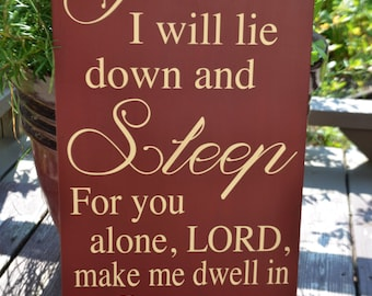 Psalm Bible Verse Wooden Sign