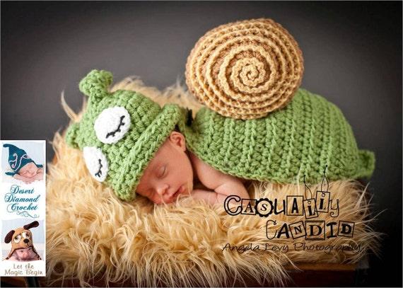 Snail / Slug Animal Cape Newborn Photography Prop