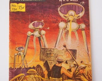 Classics Illustrated The War of the Worlds Comic Vintage Retro Antique