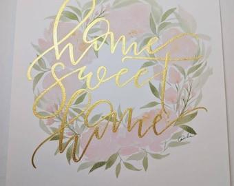 Home Sweet Home (Peony Wreath)