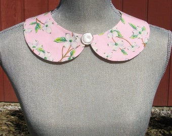 Detachable Peter Pan Collar - Removable Collar - Vintage button