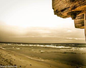 Seaford pier, sepia photography