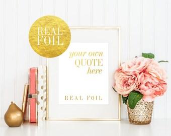 Real Gold Foil Print / CustomTeacher Appreciation Gift / Gifts for Teacher / Teacher Gift / End of Year Teacher Gift / Teacher Present