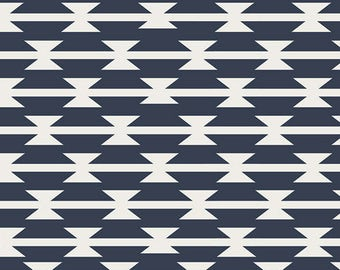 Art Gallery Arizona Knit Cotton Lycra Tomahawk Stripe by the 1/2 Yd