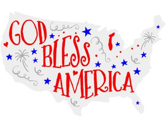 God Bless America Shirt, Fourth of July Gift, Red, White and Blue