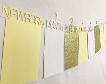 Sunshine banner, ombre yellow, gold glitter banner, First birthday photo banner, first birthday banner, photo banner, babys first birthday