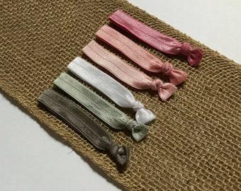Pink Hair Tie Set   Elastic Hair Tie   Creaseless Hair Tie   Bulk Hair Ties   Hair Tie Favor   FOE Hair Tie   Hair Tie Bracelet