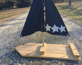 Extra Large Reclaimed Wood Sailboat - Photography Prop, Cake Stand, Cupcake Display