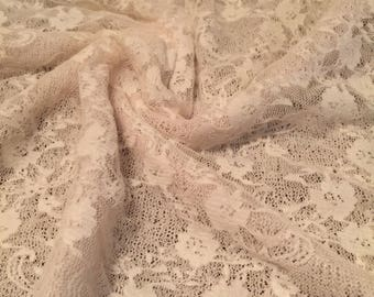 Stretch Lace Fabric Floral Pattern