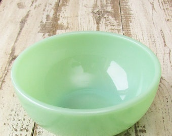 "Vintage Single Jadeite Restaurant Ware Cereal Chili Bowl 5"" Small Dessert Breakfast Salad Jadite Diner Fire King Oven Ware 30 Marked Piece B"