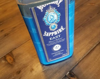 Handmade Bombay Sapphire Gin bottle candle