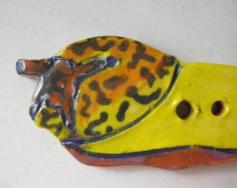 Banana Slug Ceramic Button