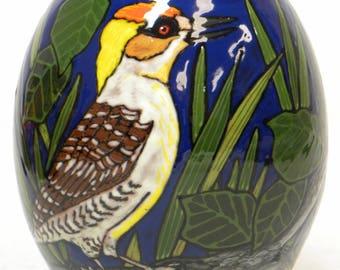 Small Pottery Bird Vase (Item#21)