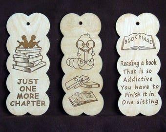 handmade wooden bookmark children kids bookworms laser engraved page marker eco friendly wooden gift child boy girl  birthday