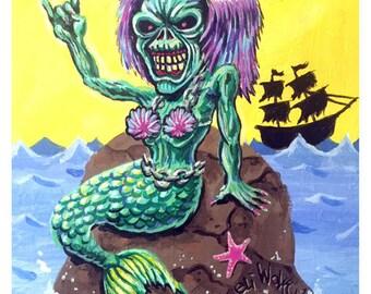 Iron Mermaiden -- 8x10 Art Print