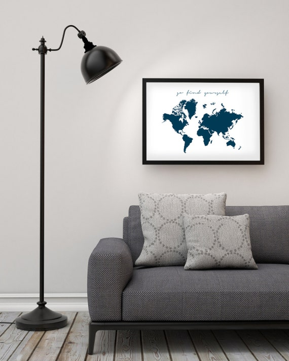 World map poster go find yourself xxl kitchen world map poster go find yourself xxl kitchen wall art inspirational quote printable art nordic design gumiabroncs Gallery