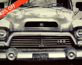 ON SALE 40% off-  1957 GMC Vintage Truck Photography. 8x12 Print, Gritty Automobile Photo, Old Pickup, Man Cave, Gift for Dad