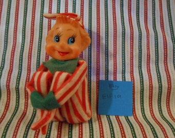 Knee Hugging Blue Eyed Christmas Elf - Vintage  - #101