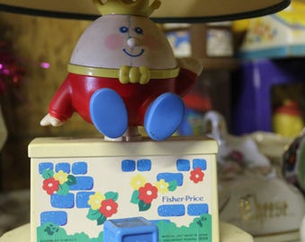 Fisher Price Humpty Dumpty Nursery Lamp Musical 1985
