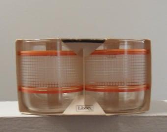 Vintage Set of Four Juice Glasses