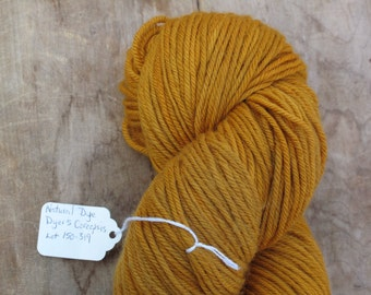 Butterscotch Hand Dyed Superwash Worsted Weight Wool