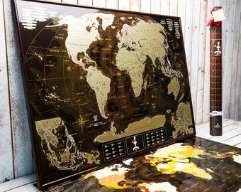 Scratch off world map travel with us by blackmaps on etsy scratch world map scratch off personalized map travel map asia map map gumiabroncs Images