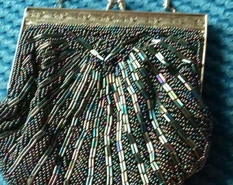 stunning Original Vintage bead evening handbag-Flapper/Gatsby/Downtown Abbey
